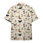 Gearhumans 3D Animal Yoga Vegetarian Custom Hawaiian Shirt