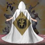 Gearhumans 3D White Ranger Custom Hooded Cloak