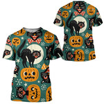 Gearhumans 3D Halloween Black Cats Custom Tshirt Hoodie Apparel