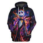 Gearhumans 3D Jack Skellington in Halloween Custom Hoodie Tshirt Apparel