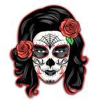 Gearhumans 3D Day Of The Dead Girl Sugar Skull Custom Stickers