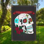 Gearhumans 3D Dia De Los Muertos Sugar Skull Custom Flag