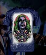 Gearhumans 3D Beetlejuice Its showtime! Custom Bleached Tshirt