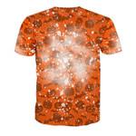 Gearhumans 3D Halloween Pumpkin SB Custom Bleached Shirts