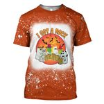 Gearhumans 3D Peanuts Halloween I Got A Rock Custom Bleached Tshirt