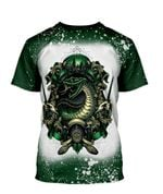 Gearhumans 3D Slytherin House Of The Cunning Custom Bleached Tshirt