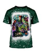 Gearhumans 3D Hocus Pocus Sanderson Sisters Happy Halloween Custom Bleached Tshirt