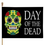 Gearhumans 3D Day Of The Dead Sugar Skull Custom Flag