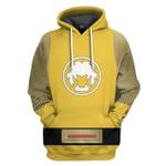 Gearhumans 3D The Yellow Wind Rangers Ninja Storm Custom Tshirt Hoodie Apparel