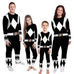 Gearhumans 3D Mighty Morphins Power Ranger Black Custom Family Pajamas