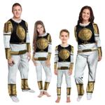 Gearhumans 3D Mighty Morphins Power Ranger White Custom Family Pajamas