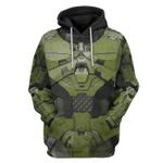 Gearhumans 3D Halo Infinite Masterchief Cosplay Custom Tshirt Hoodie Apparel
