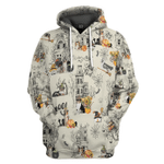 Gearhumans 3D Halloween Town With Australian Shepherd Dog Custom Tshirt Hoodie Apparel