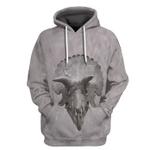 Gearhuman 3D Triceratop Skull Tshirt Hoodie Apparel