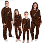 Gearhumans 3D Star Wars ChewBacca Set Cosplay Custom Family Pajamas