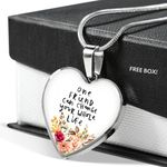 Gearhuman 3D Friendship Day One Friend Can Change Your Life Custom Heart Necklace