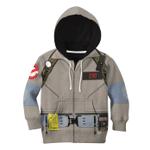 Gearhumans 3D Ghostbuster Cosplay Custom Name Kid Hoodie
