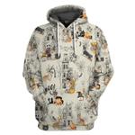Gearhumans 3D Halloween Town With Corgi Dog Custom Tshirt Hoodie Apparel
