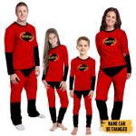 Gearhumans 3D The Incredibles Custom Name Family Pajamas