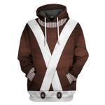 Gearhumans 3D Willy Wonka Oompa Loompa Custom Tshirt Hoodie Apparel