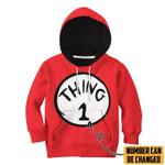 Gearhuman 3D Thing 1 Custom Number Kid Tshirt Hoodie Apparel
