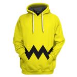 Gearhumans 3D PEANUTS Charlie Brown Custom Hoodie Tshirt Apparel