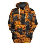 Gearhuman 3D Black Cat And Pumpkin Tshirt Hoodie Apparel