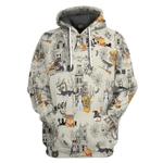 Gearhumans 3D Halloween Town With Husky Dog Custom Tshirt Hoodie Apparel