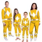 Gearhumans 3D Mighty Morphins Power Ranger Yellow Custom Family Pajamas