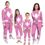 Gearhumans 3D Mighty Morphins Power Ranger Pink Custom Family Pajamas