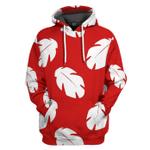 Gearhumans 3D Lilo Hawaiian Floral Leaves Custom Tshirt Hoodie Apparel