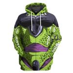 Gearhumans 3D Cell Dragon Ball Custom Tshirt Hoodie Apparel