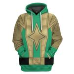 Gearhumans 3D Green Samurai Rangers Ninja Storm Custom Tshirt Hoodie Apparel