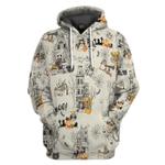 Gearhumans 3D Halloween Town With Shih Tzu Dog Custom Tshirt Hoodie Apparel