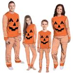 Gearhumans 3D Trick Or Treat Pumpkin Custom Family Pajamas