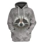 Gearhumans 3D Raccoon Custom Tshirt Hoodie Apparel