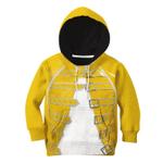 Gearhumans 3D Freddie Mercury Custom Kid Tshirt Hoodie Apparel