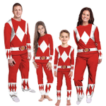 Gearhumans 3D Mighty Morphins Power Ranger Red Custom Family Pajamas