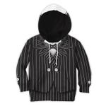 Gearhumans 3D Jack Skellington Halloween Cosplay Custom Kid Hoodie Tshirt Apparel