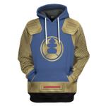 Gearhumans 3D The Navy Thunder Rangers Ninja Storm Custom Tshirt Hoodie Apparel