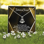 Friendship Day Fabulous Friend Custom Love Knot Necklace With Message Card