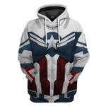 Gearhumans 3D Sam Wilson Captain America Custom Tshirt Hoodie Apparel