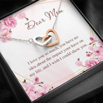 Gearhumans 3D Dear Mom Happy Mothers Day Interlocking Hearts Necklace