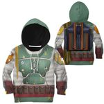 Gearhumans 3D Star Wars Boba Fett Tshirt Hoodie Apparel Kids