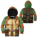 Gearhumans 3D Michelangelo TMNT Mike Mikey Cosplay Custom Kids