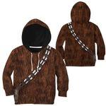 Gearhumans 3D Star Wars ChewBacca Set Custom Kid Tshirt Hoodie Appreal