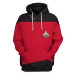 Gearhumans 3D Star Trek The Next Generation 1987 1994 Red Custom Tshirt Hoodie Apparel