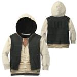 Gearhumans 3D Star Wars Han Solo Set Custom Kid Tshirt Hoodie Appreal