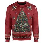 Gearhumans Custom T-shirt - Long Sleeves Ugly Christmas Carolina Colours Christmas Sweater Jumper