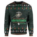 Gearhumans Ugly All I Want For Christmas Is My Son Home Custom Sweater Apparel